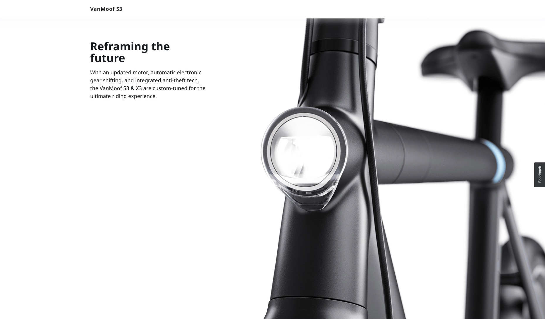 Wonder Vision Vanmoof S3 CGI eBike Website
